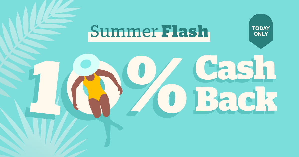 Rakuten/Ebates Flash Sale - Up to 10% off Cashback (ONE DAY ONLY)
