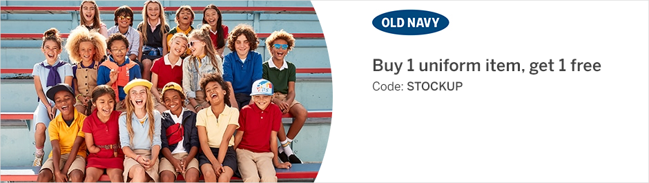 Save at Old Navy with Coupons and Cash Back from Rakuten!