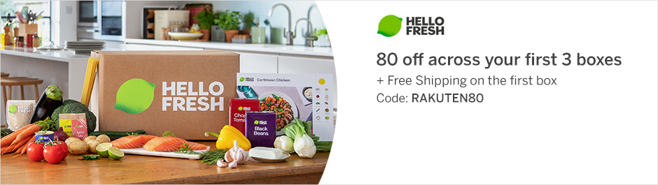 Save at HelloFresh with Coupons and Cash Back from Rakuten!
